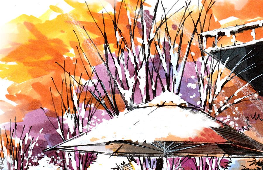 艾绘v气氛景观设计绘制手绘冬日暖阳气氛表mastercam螺旋表现槽图片