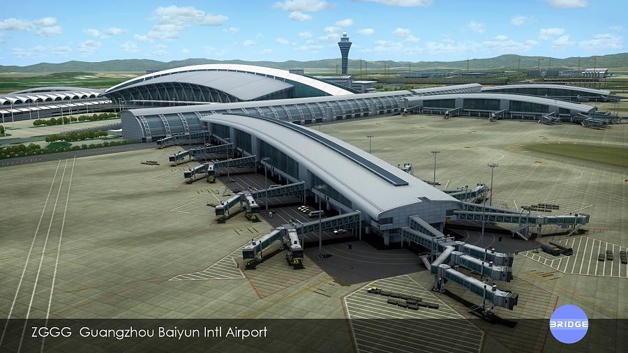 微软模拟飞行10-广州白云国际机场插件|其他三维