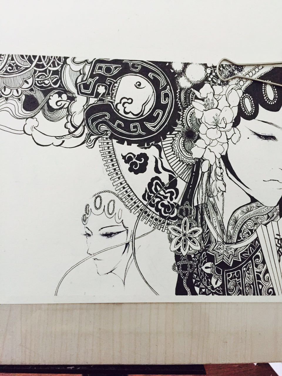 黑白画|插画|插画习作|monster吴畏 - 原创作品图片