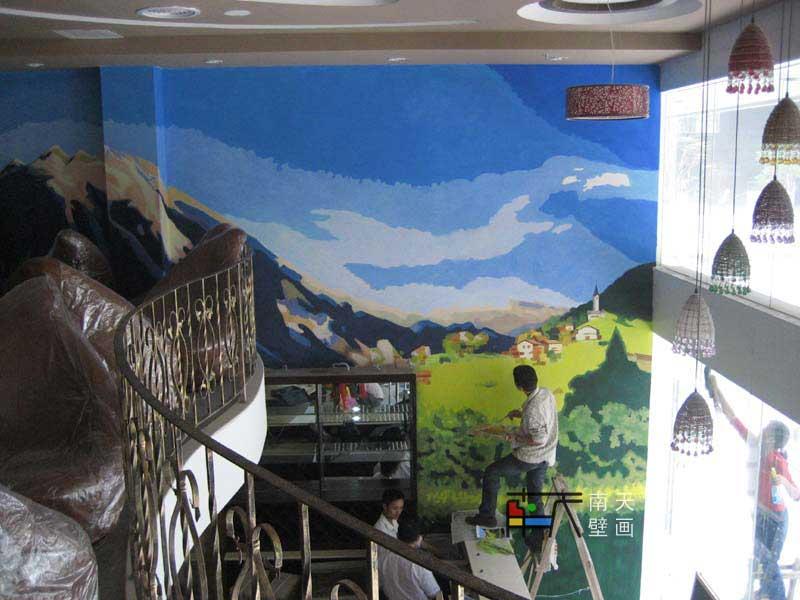 手绘油画,欧式油画,欧式壁画图片