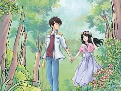 日系唯美风格名家小说内文插画