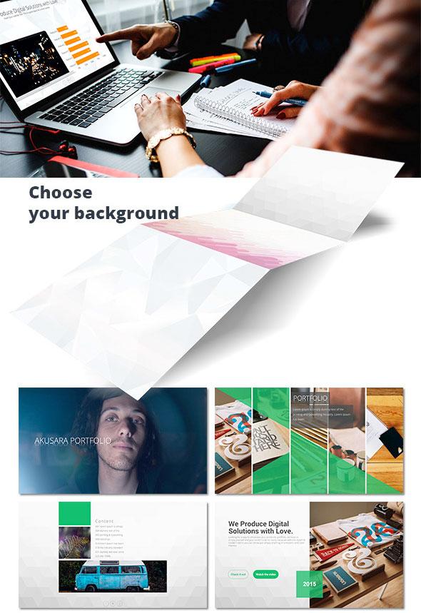 灰色低变形背景商务团队展示通用ppt模板|ppt/演示