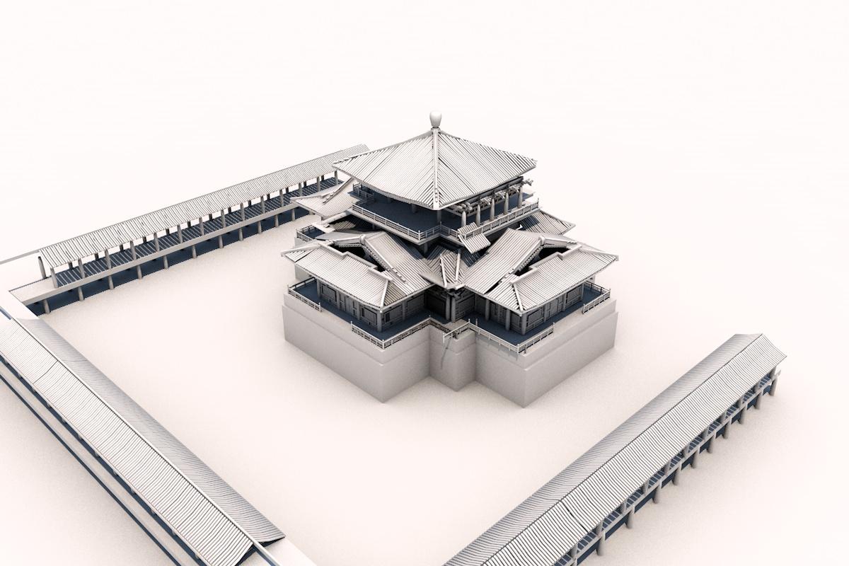 中国古建筑-二|三维|场景|tableaux - 原创作品