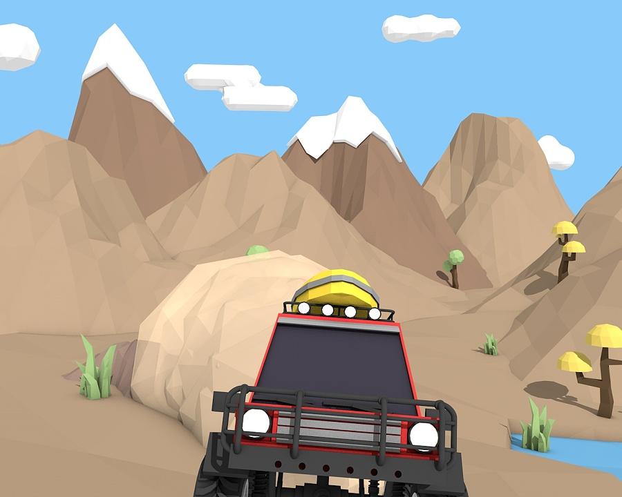 Low poly的场景和越野车|动画\/影视|三维|zzxxgg