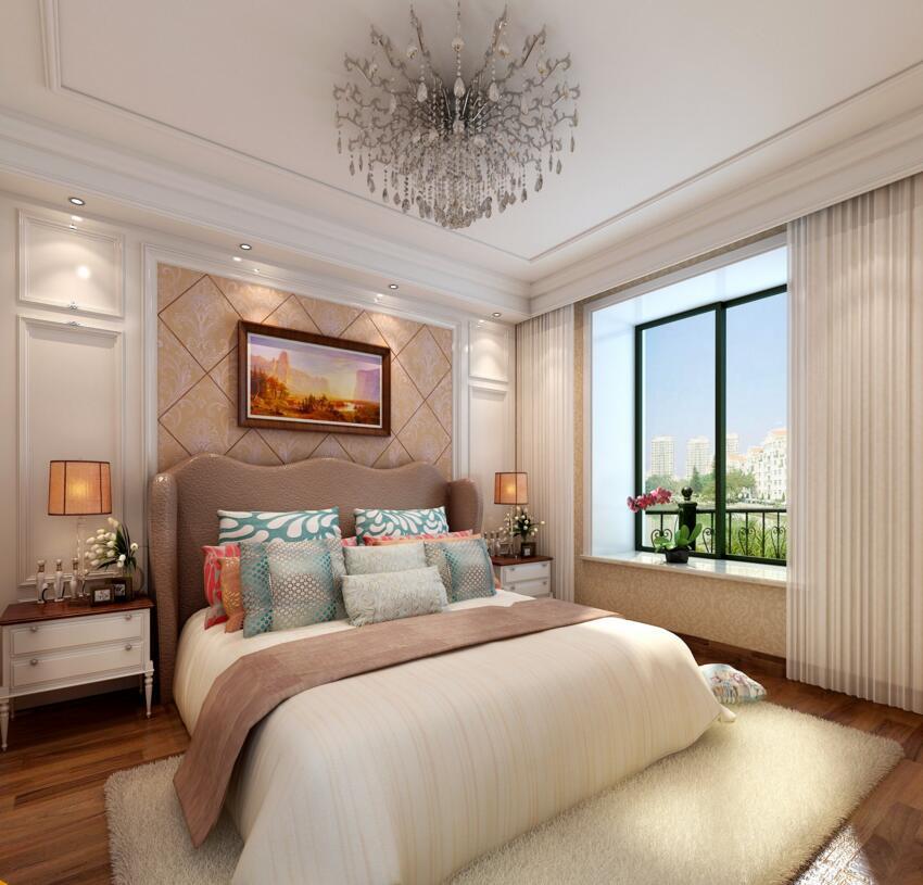康橋悅島裝修效果圖90平現代簡約風格兩室一廳設計案例圖片