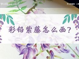 彩铅紫藤怎么画?