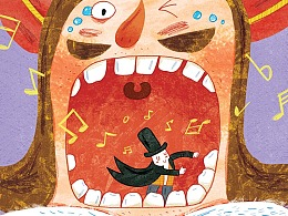童书插图《怪怪国的怪国王》