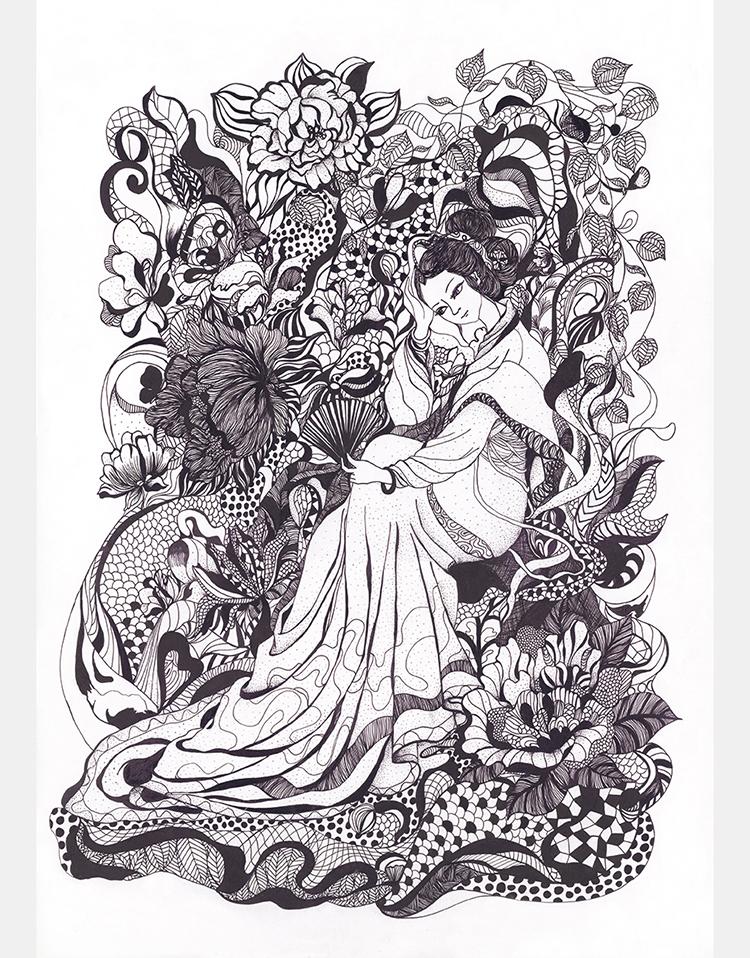 原创作品:黑白装饰画图片