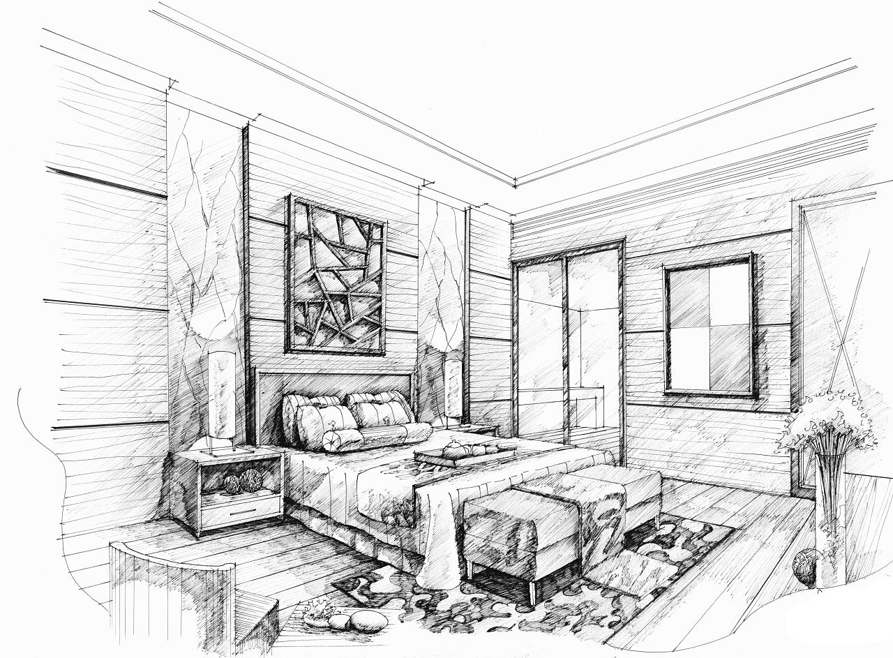 卧室设计|空间|室内设计|mhc绘 - 原创作品 - 站酷