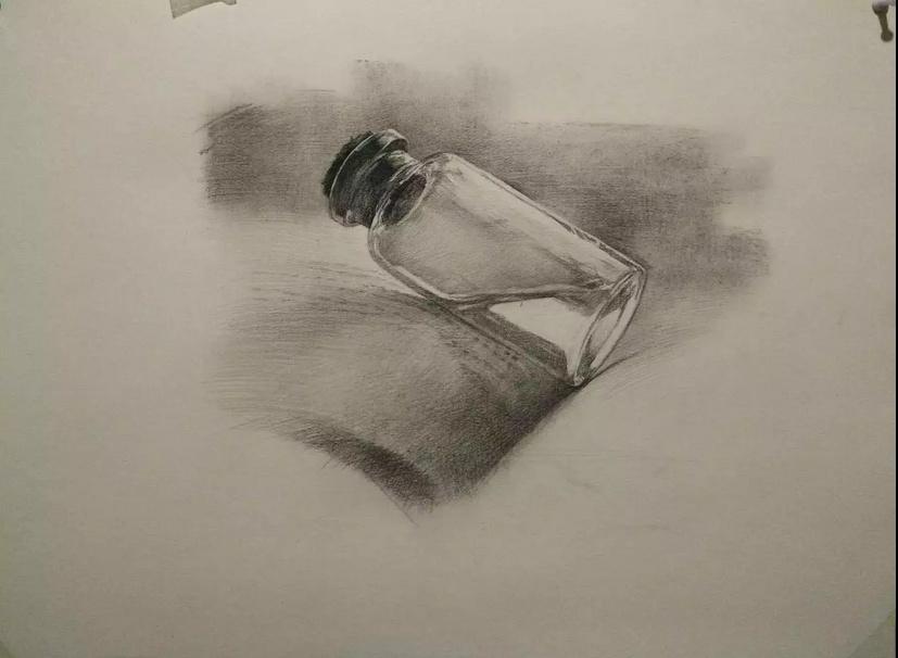 铅笔画 素描教学 瓶子|其他|墙绘/立体画|大师兄_1