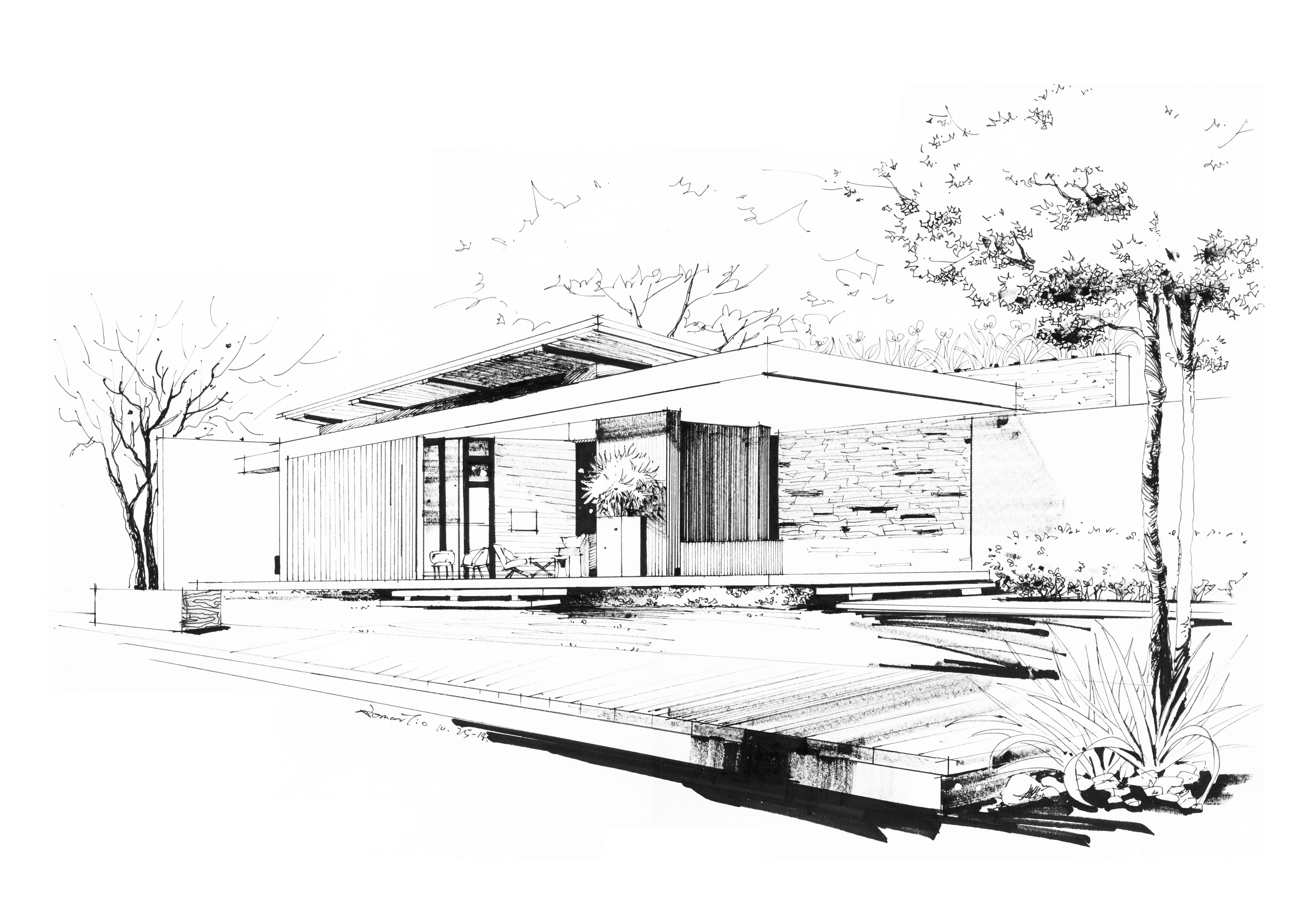 手绘|空间|建筑设计|romanti - 原创作品 - 站酷