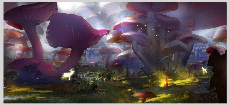 采蘑菇的小姑娘~|商业插画|插画|winston_77 - 原