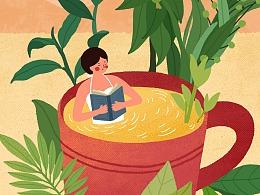 近期茶饮插画创作整理