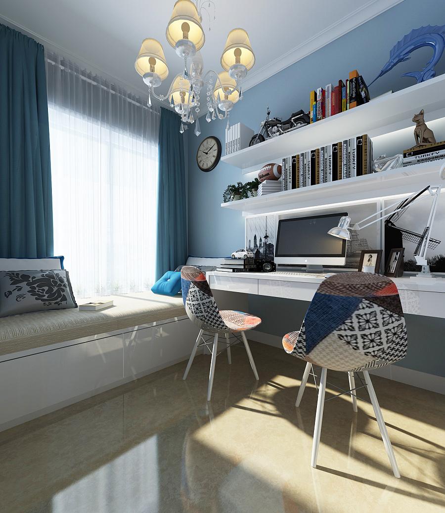 渲染的小书房|室内设计|空间|梵木空间设计 - 原创图片