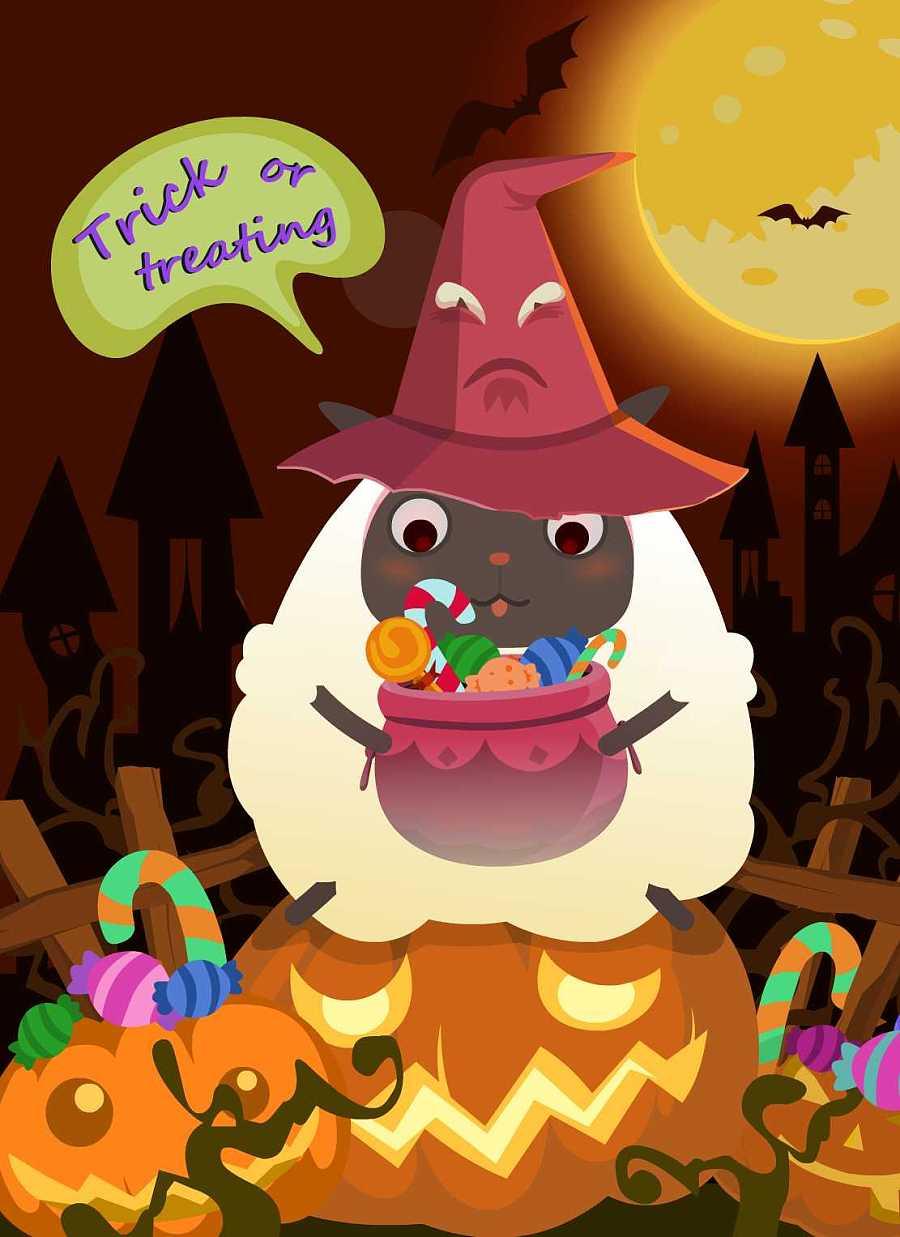 糖果袋子卡通图