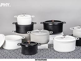 三色煲汤锅拍摄
