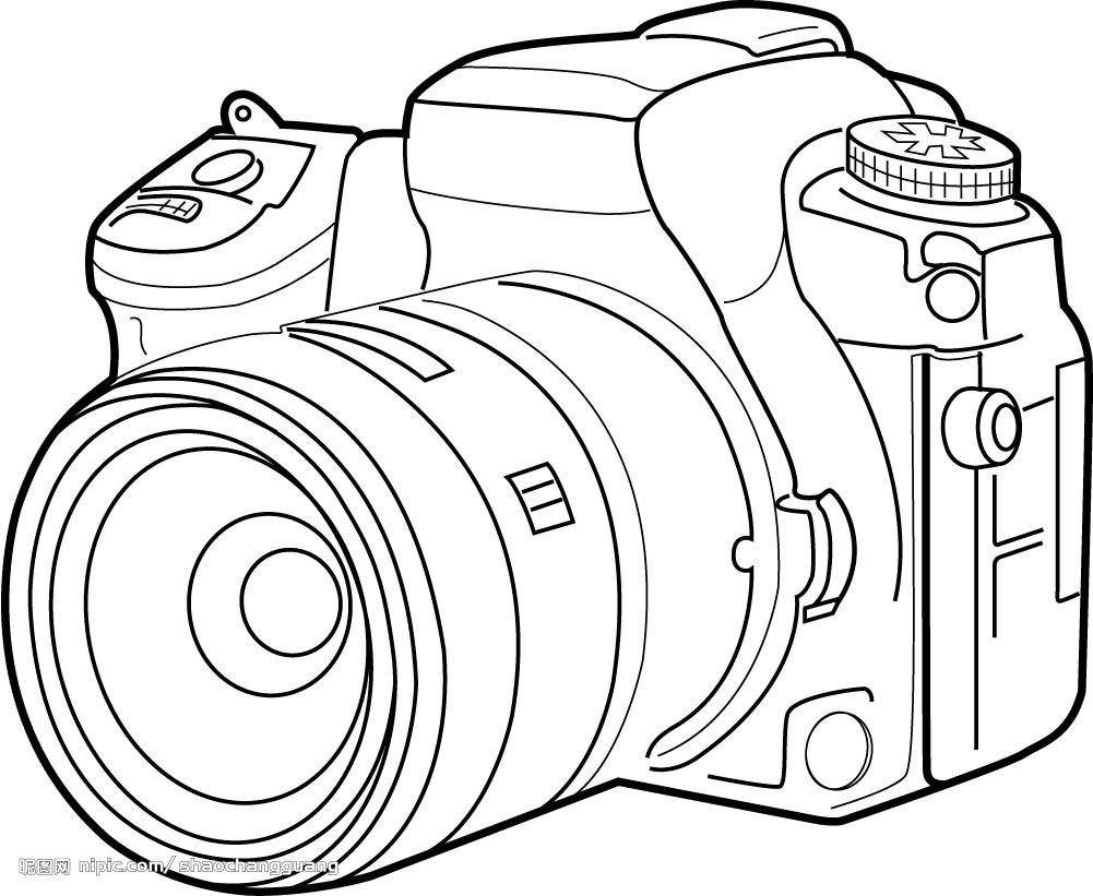 线稿,相机