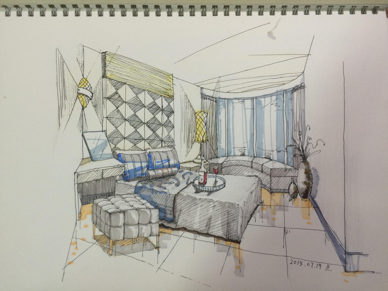 室内手绘图练习-临摹