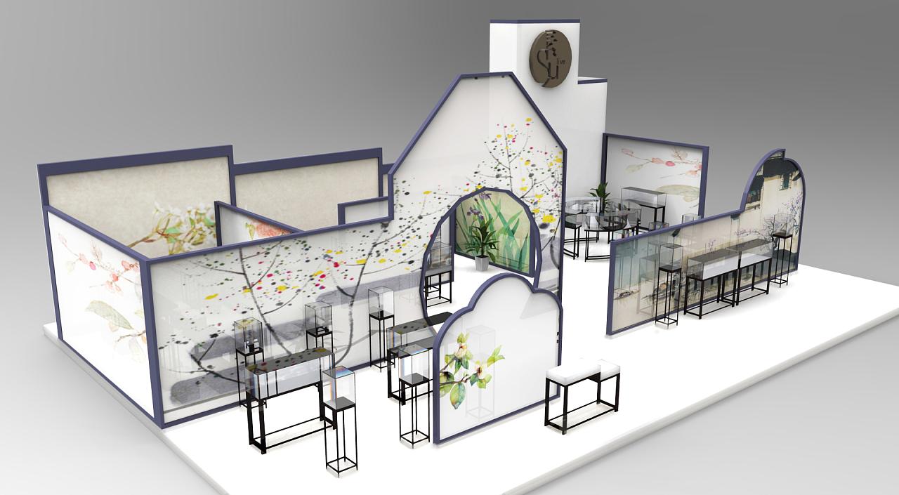 毕业设计—su素创意银饰展位设计|空间|展示设计图片