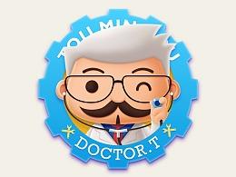 Dr.T卡通吉祥物设计