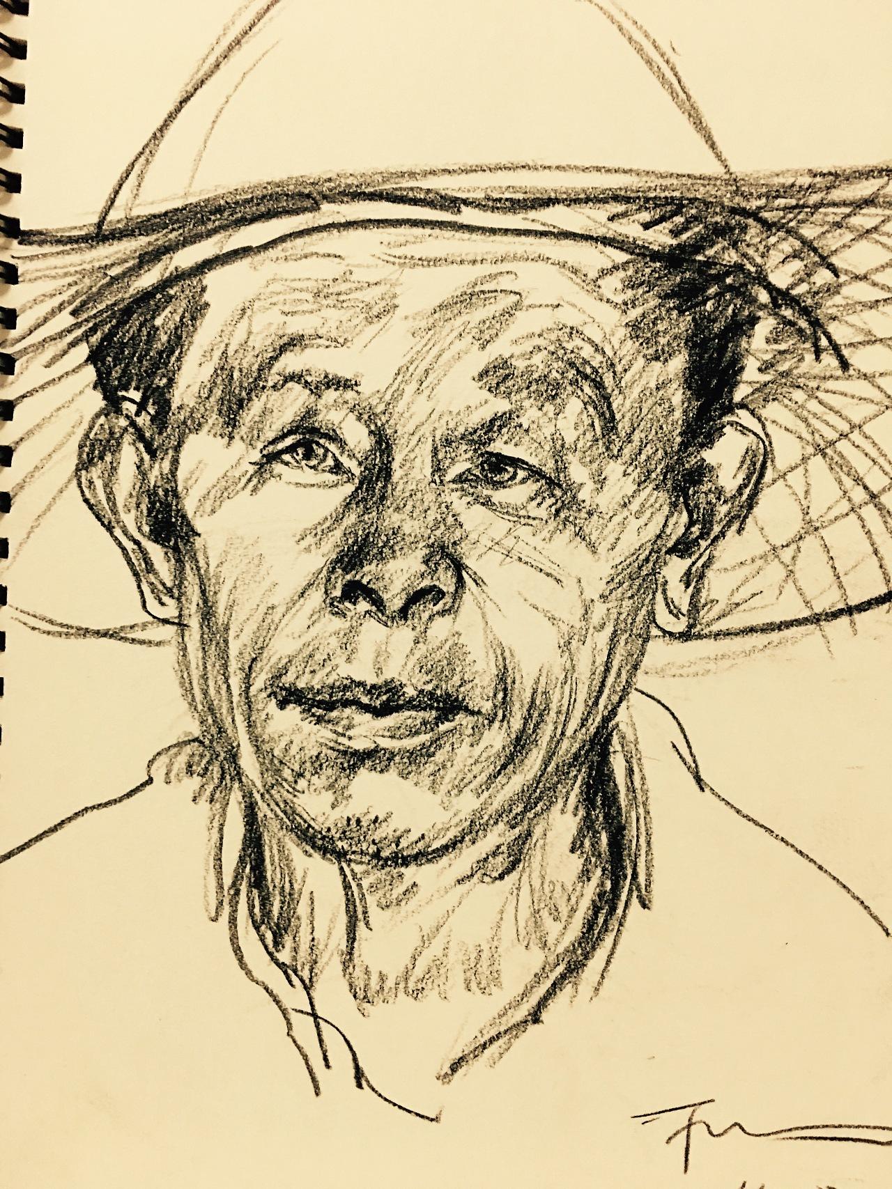 人物素描肖像图片