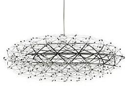 LED火花圆球灯工厂铭星灯饰专业定制生产球形吊灯