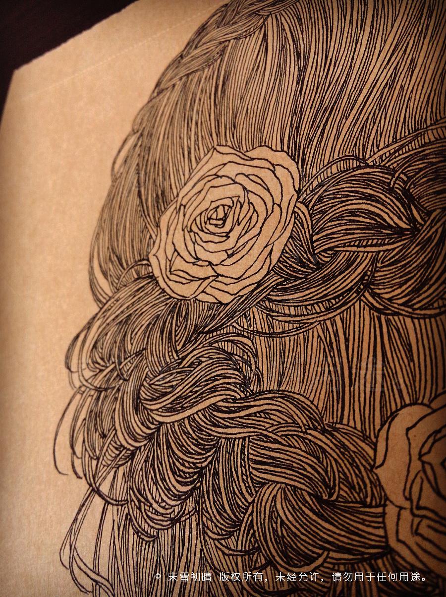 《寻》系列——原创手绘线描人物