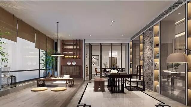 正商红河谷300平新中式别墅风格森林装修大宅九月金基效果别墅图片