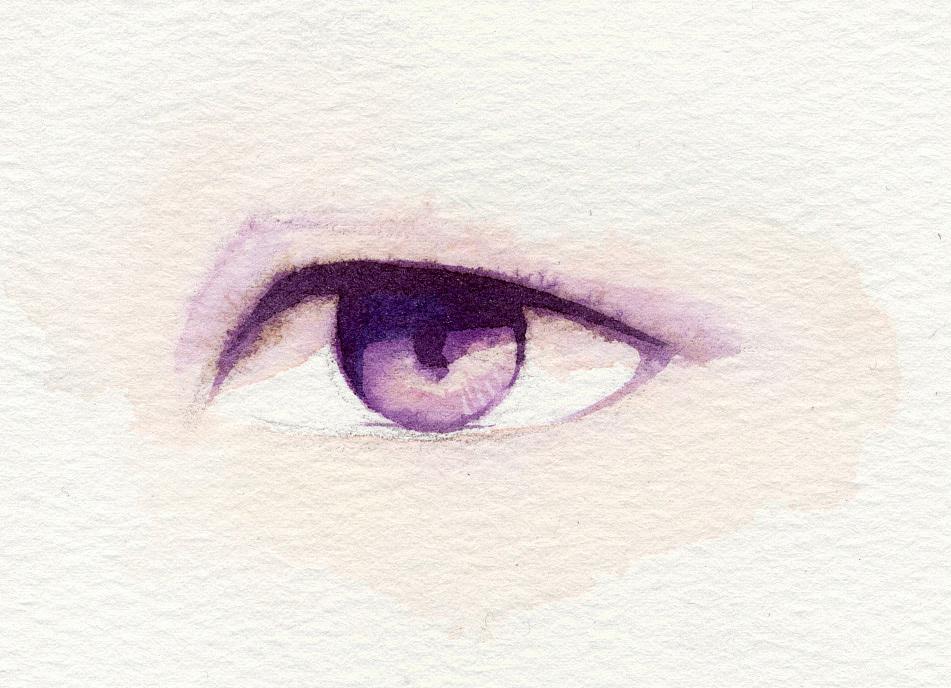 手绘水彩眼睛