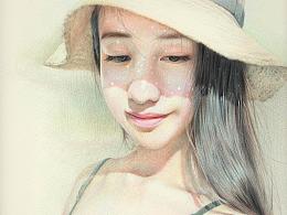 《戴草帽的女孩》