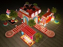 商场外广场开业圣诞新年美陈