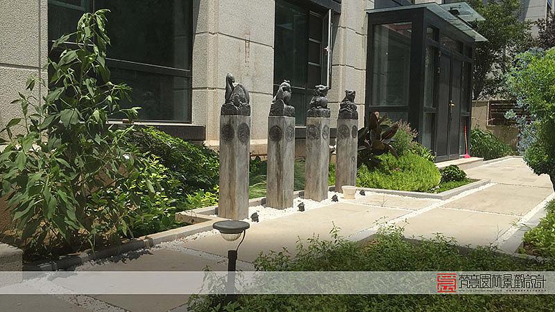 私家花园设计实景图,花园设计实景图,郑州碧源月湖私家花园