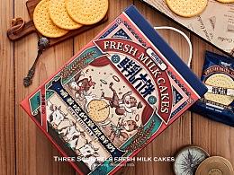 【三只松鼠·鲜乳大饼】零食包装