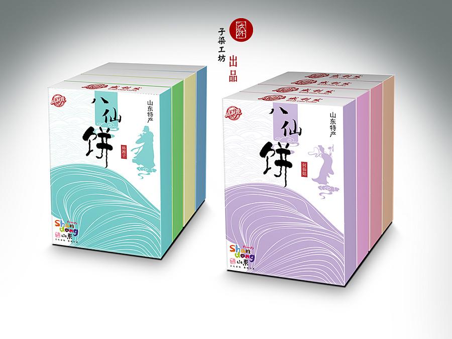 八仙饼包装设计图片