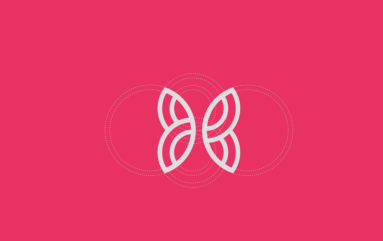 瑜伽健身运动装品牌标志设计