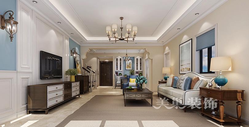 天伦庄园160平简美风格四室两厅装修样板间