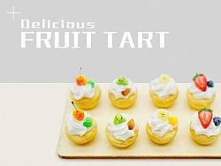 水果挞-软陶