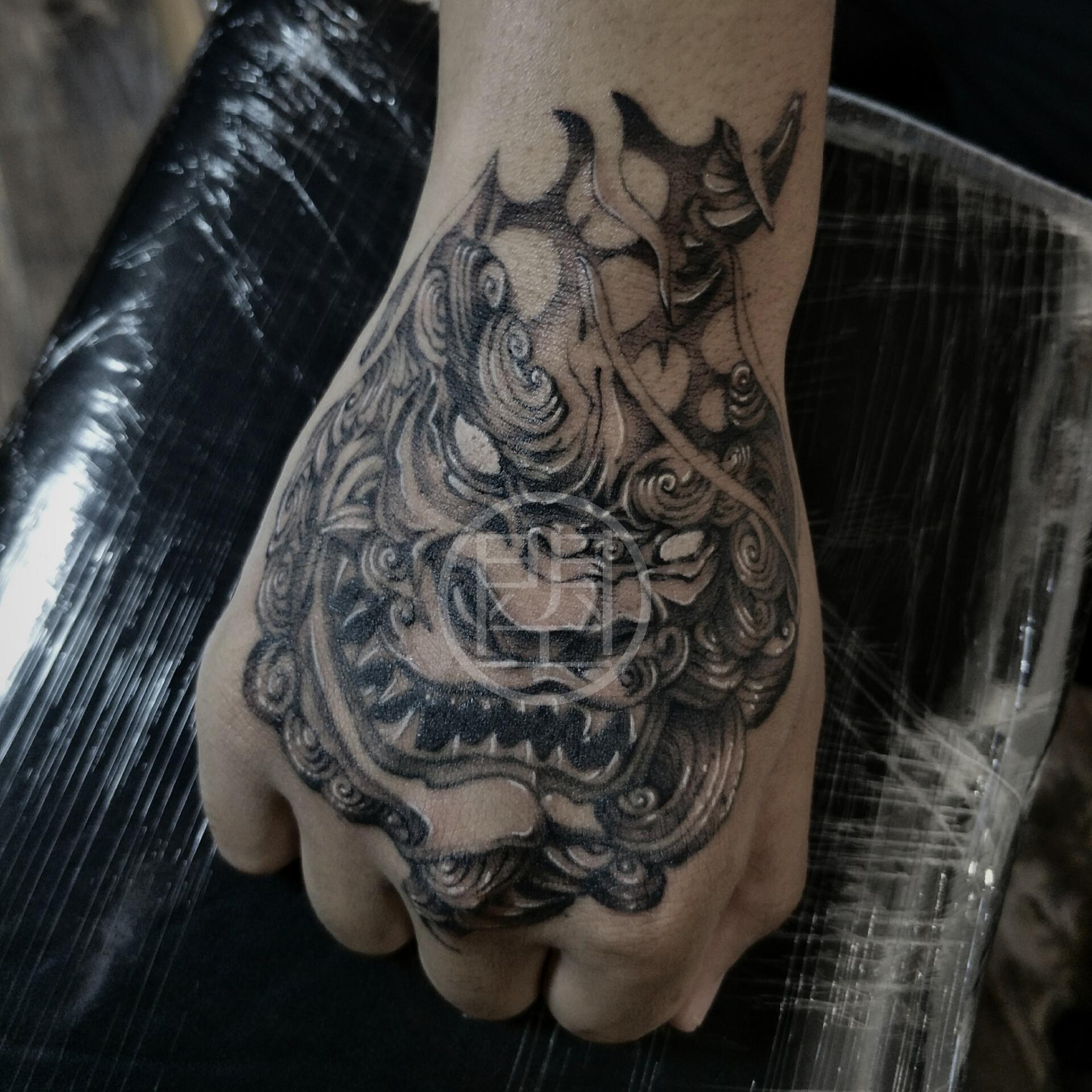 唐狮#纹身