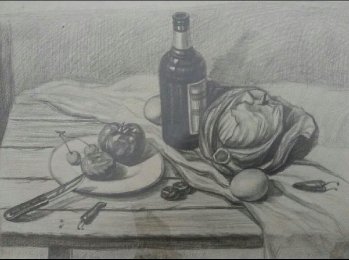 手绘作品(黑白装饰画) 插画 像素画 gingting0708