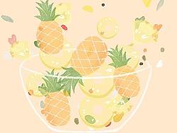 翻滚吧水果君!系列插画