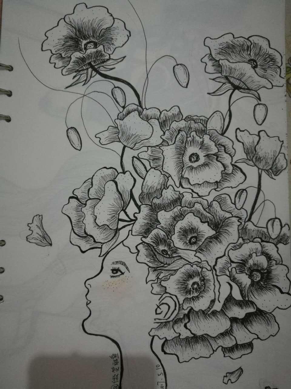 手绘临摹作业练习