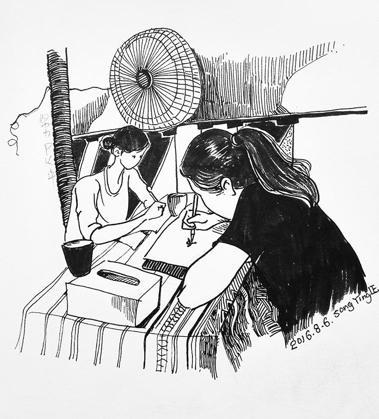 原创作品:黑白插画