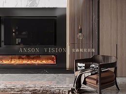 有温度的家~暖暖的,现代风格暖色系跃层住宅