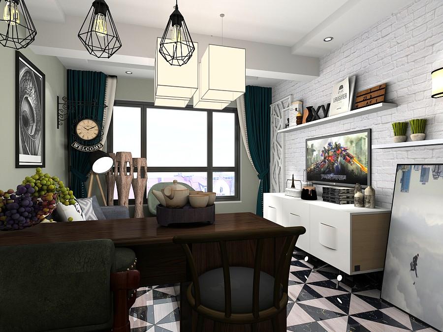 酷家乐云设计平行--大赛小区|室内设计|空间/建空间景观设计效果图马克笔图片