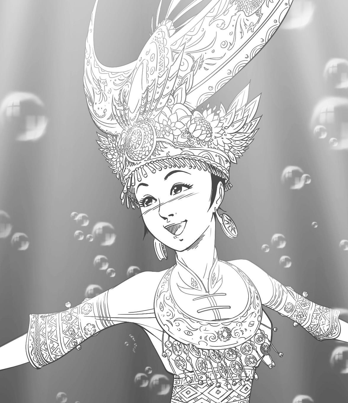 苗族传说《仰阿莎》|插画|商业插画|卡通我的床