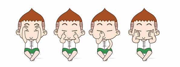 眼保健操儿童版 影子 单幅漫画 动漫视婷-惊爆类似游戏漫画原创图片