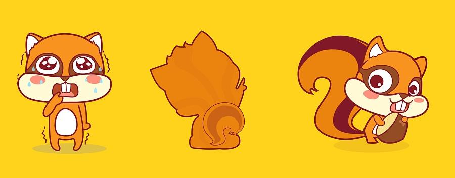 松鼠家app原创卡通形象设计
