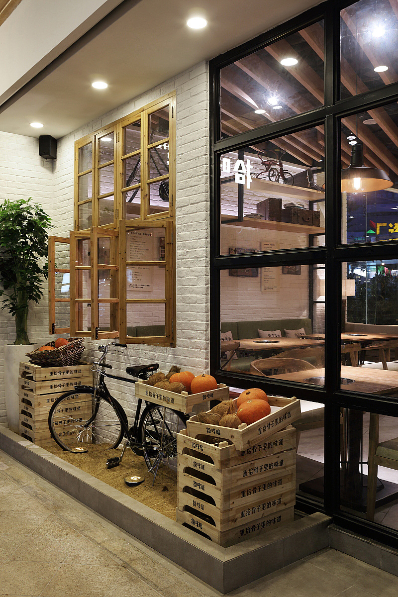 正餐店 · 餐饮空间设计_拾味馆 海口上邦百汇城店