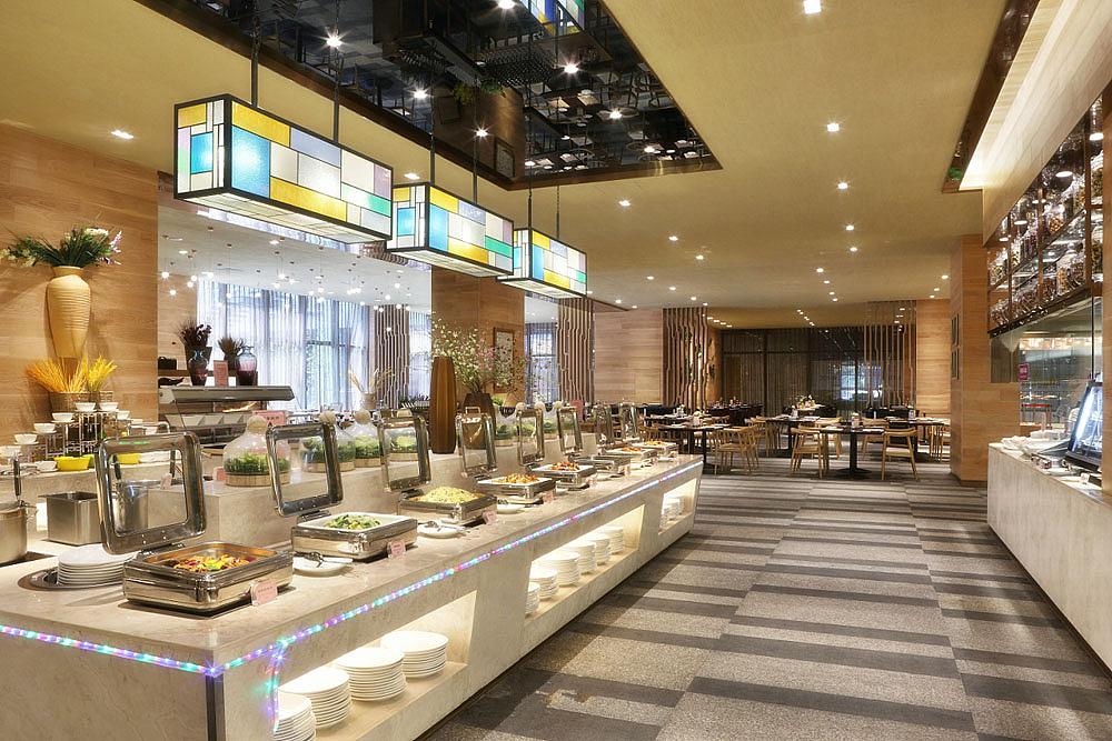 成都盛装装修海鲜自助-自助蛋糕v盛装-德餐厅饰餐厅店广告牌设计素材图片