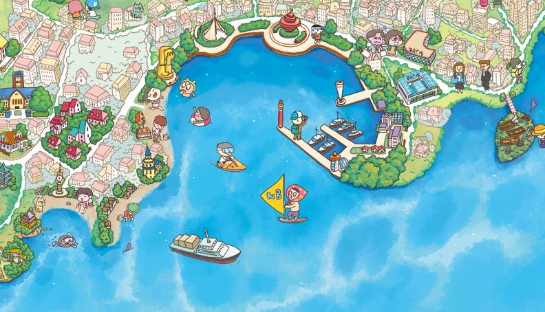 原创作品:q版手绘地图-青岛|商业插画|插画|成哲pie